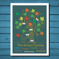 Custom Family Tree Gift - Personalized Family Tree Wall Art