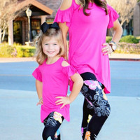 Mommy and Me Butterfly Leggins
