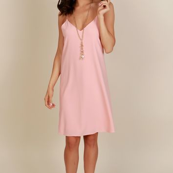 Sweet Greeting Shift Dress Peach