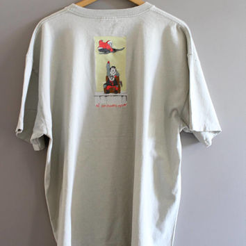 Nike Tee Made in Canada Cotton Soft Tee Oversize Nike Graphic Tee Vintage Nike 80s Size XL #T194A