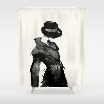Form Shower Curtain by Allison Reich