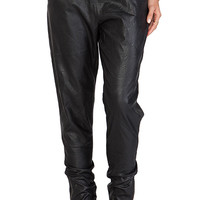 MINKPINK Out Bound Faux Leather Jogger in Black