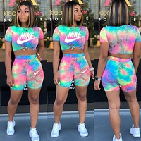 Nike Womens Two Piece T-Shirt and Shorts Set Clothing R6198