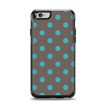 The Gray & Blue Polka Dot Apple iPhone 6 Otterbox Symmetry Case Skin Set