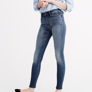 Womens High Rise Super Skinny Jeans | Womens Clearance | Abercrombie.com