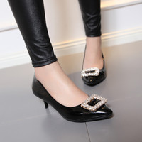 Pointed Toe Womens High Heel Shoes Rhinestone Lady Pumps Party Dress Shoes