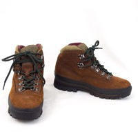 Brown Leather Hiking Boots Cabelas Gore Tex Womens Size 6.5 B EU Sz 37