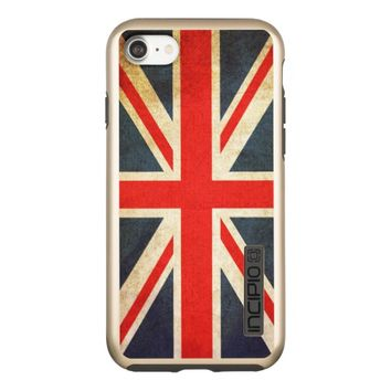 Vintage Union Jack British Flag Incipio DualPro Shine iPhone 7 Case