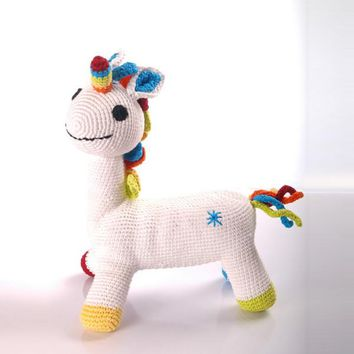 Fantasy White Unicorn Fair Trade Toy