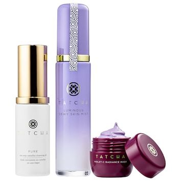 Skincare For Makeup Lovers - Instant Dewy Glow Set - Tatcha | Sephora