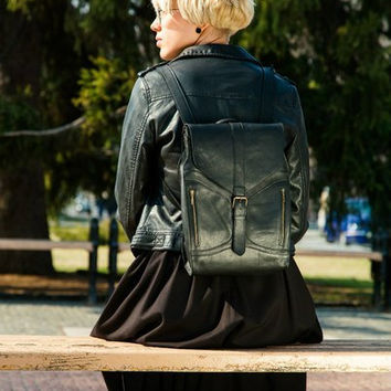 Women backpack, genuine leather, backpack, school backpack, leather backpack, handmade backpack, laptop backpack, hipster backpack