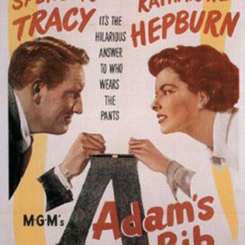 Adam's Rib Spencer Tracy Katharine Hepburn Vintage Movie Poster