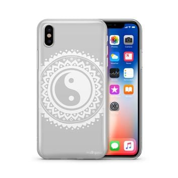 Henna Tribal Yin Yang - Clear TPU Case Cover
