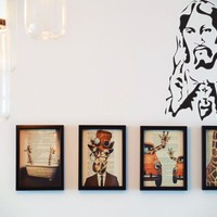 Lord Jesus Picture  Vinyl Wall Decal - Removable (Indoor)
