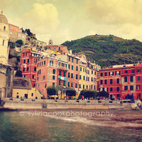 Italy Photograph - Cinque Terre, Vernazza, Travel Photography, Colorful Pastel Houses, Ocean, sea