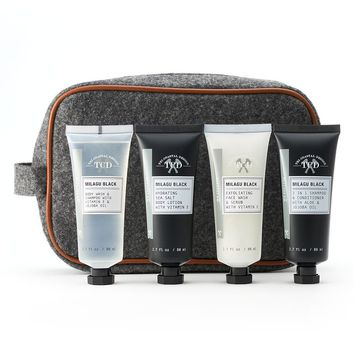 Tri-Coastal Design Milagu Black 5-pc. Skin & Hair Care Travel Kit - Men's