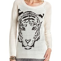 STUDDED TIGER SWEATER TUNIC