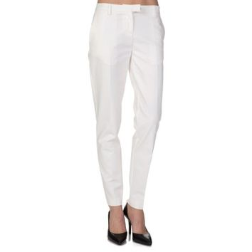 Moncler White Stretch Smart Trousers