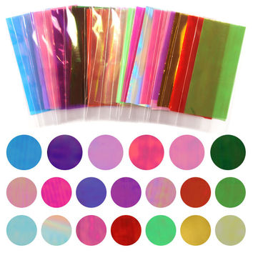 Hot Sale 20 Different Colors Broken Glass Pieces Mirror Foil Tips Stencil Decal Nail Art Sticker Cute Manicure Tools For DIY