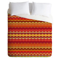 DENY Designs Home Accessories | Amy Sia Tribal Diamonds Two Red Duvet Cover