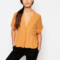 Neon Rose Crop Box Blouse at asos.com