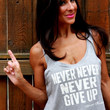 Never Never Never Give Up...flowy crop lounge tank.
