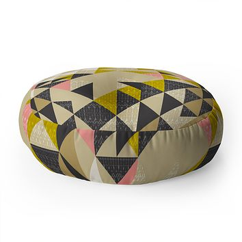 Pattern State Nomad Quilt Floor Pillow Round