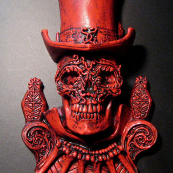 Bloody Baron Samedi Wall Plaque by Dellamorteco on Etsy