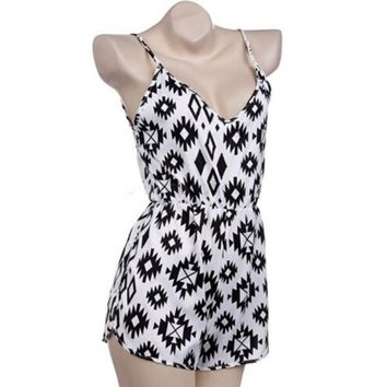 Sexy Women Leopard Pattern Jumpsuits Cocktail Tunic Playsuit Party Summer Beach Jumpsuit Rompers Shorts Beachwear
