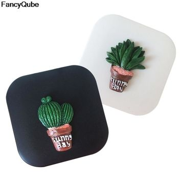 Cute Cactus Travel Glasses Contact Lenses Box Contact Lens Case For Eyes Care Kit Holder Container