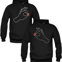 MY OTHER HALF HEARD DESIGN COUPLE LOVE HOODIES