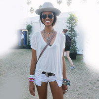 Causal Loose White T-Shirt