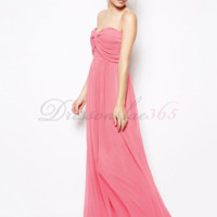 Simple A-line Sweetheart Floor Length Long Chiffon Prom Dress. DressOnSale365.com-Cheap And High Quality Wedding Dresses,Prom Dresses & More