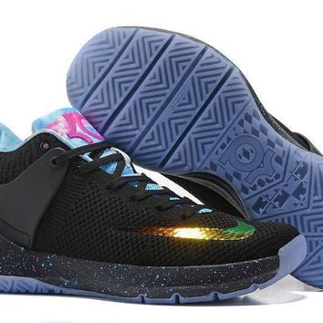 spbest Nike Zoom KD 5 Durant Knitting Basketball Shoes Black Blu 6a1914162324