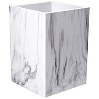 UNIQOOO Marble Print Desk Pen and Pencil Holder Case Box with Fashionable Modern Design - Great for Daily Use in Office Classroom Home
