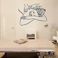 Wall Stickers Decal Massage Spa Salon Relax Therapy Relaxation Health Unique Gift (ig1490)