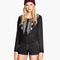 Embroidered Blouse - from H&M