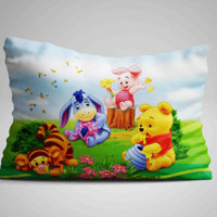 """New Best Cute Winnie The Pooh Custom Design Pillow Case 16""""x24"""" Limited Edition"""