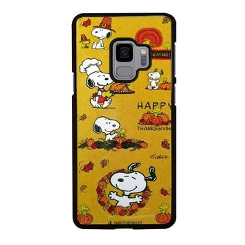 SNOOPY THE PEANUTS THANKSGIVING Samsung Galaxy S4 S5 S6 S7 S8 S9 Edge Plus Note 3 4 5 8 Case Cover