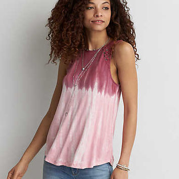 AEO Soft & Sexy Lace-Up Tank , Gray