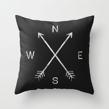 Compass Throw Pillow by Zach Terrell