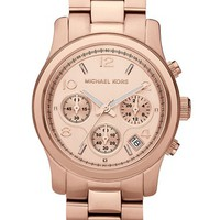 Women's Michael Kors 'Runway' Rose Gold Plated Watch, 37mm