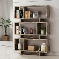 Coaster 3-Tier Salvaged Cabin Bookcase, Silver Finish - Walmart.com
