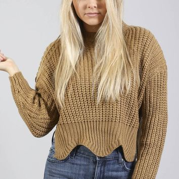 getting knitty crop sweater