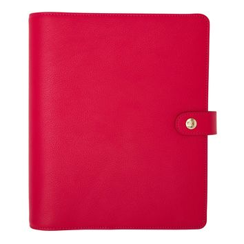 LEATHER PERSONAL PLANNER: BERRY