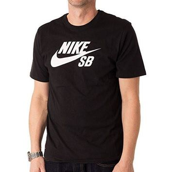 Nike Mens SB Logo T-Shirt Black/White 821946-013 Size Medium