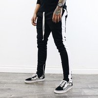 Kaden Track Pants (Black/White)