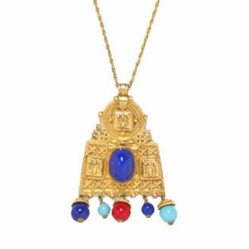 Kenneth Jay Lane Asian Temple Necklace, KJL