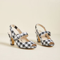 Chelsea Crew Trusting Touch Mary Jane Heel in Black Gingham