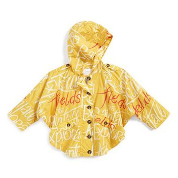 Infant Girl's Burberry 'Mini Brombrook' Hooded Nylon Parka,